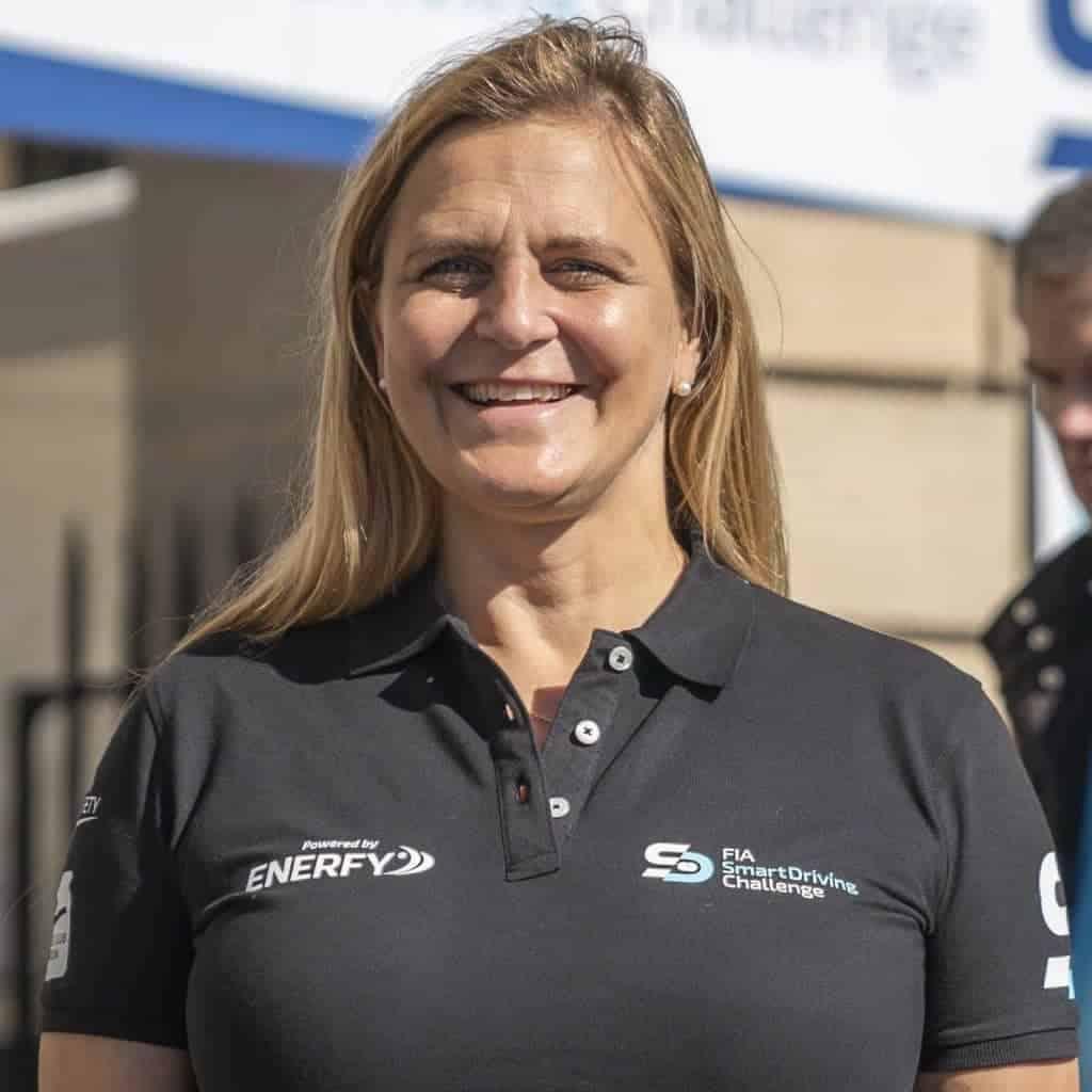 Rally driver Tina Thörner